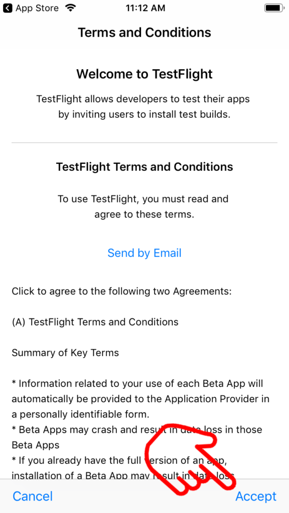 TestFlight Terms and Conditions